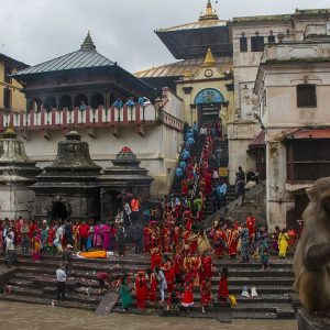 Teej in Pashupati Nepal